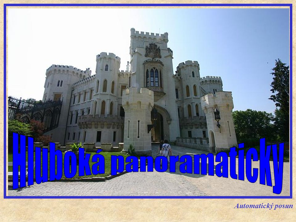 Zámek Hluboká, byl původně založen jako strážný hrad v polovině 13.