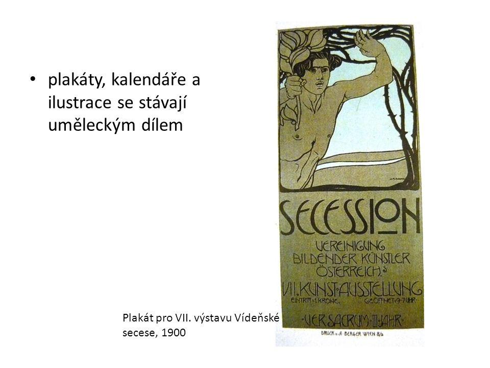 plakáty, kalendáře a ilustrace se stávají uměleckým dílem Plakát pro VII.