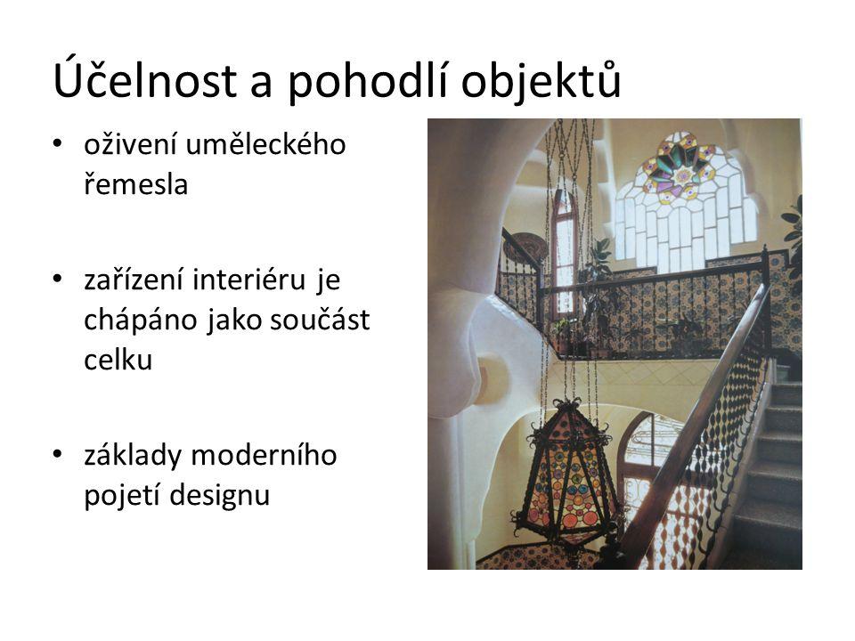 Účelnost a pohodlí objektů oživení uměleckého řemesla zařízení interiéru je chápáno jako součást celku základy moderního pojetí designu