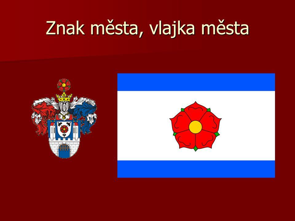 Znak města, vlajka města