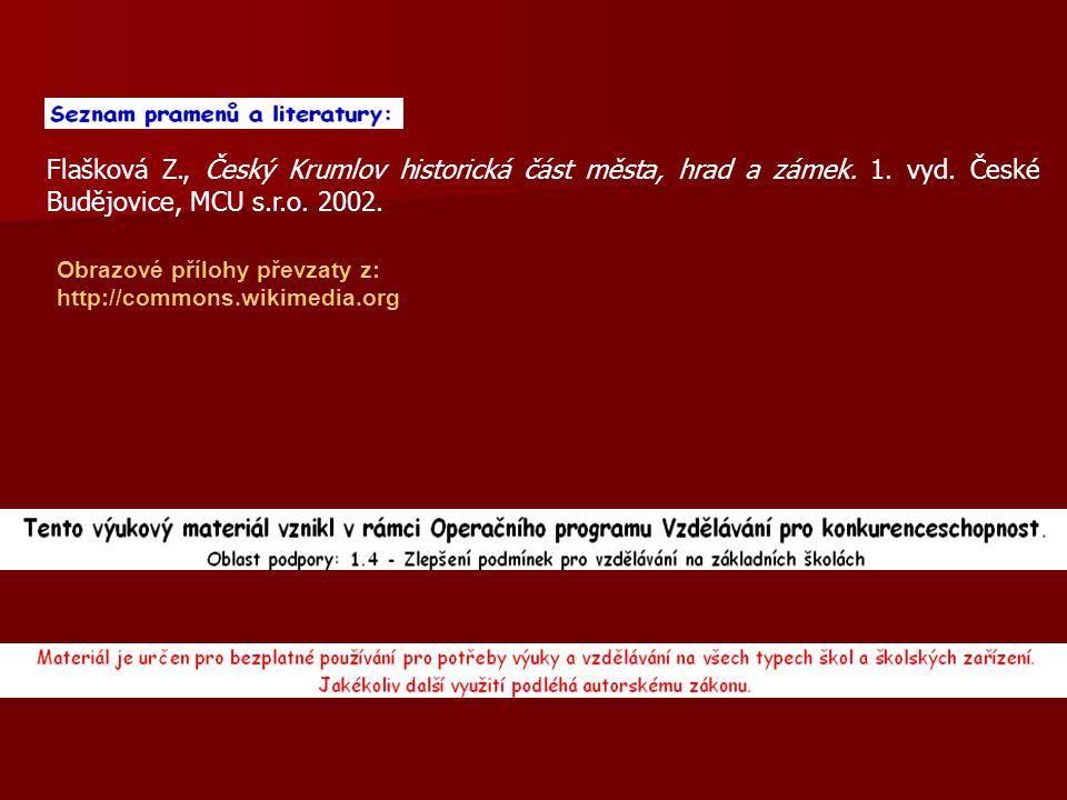 Flašková Z., Český Krumlov historická část města, hrad a zámek.