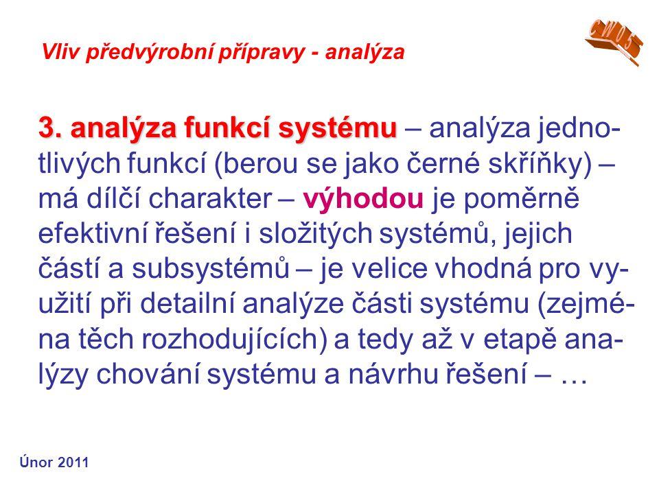 3. analýza funkcí systému 3.