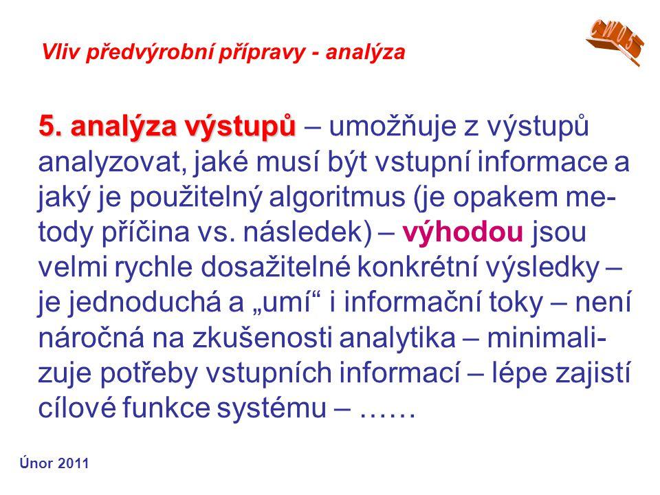 5. analýza výstupů 5.