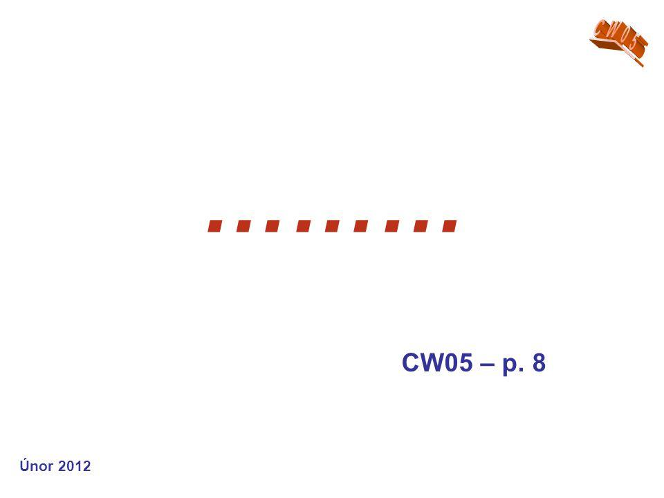 ……… CW05 – p. 8 Únor 2012