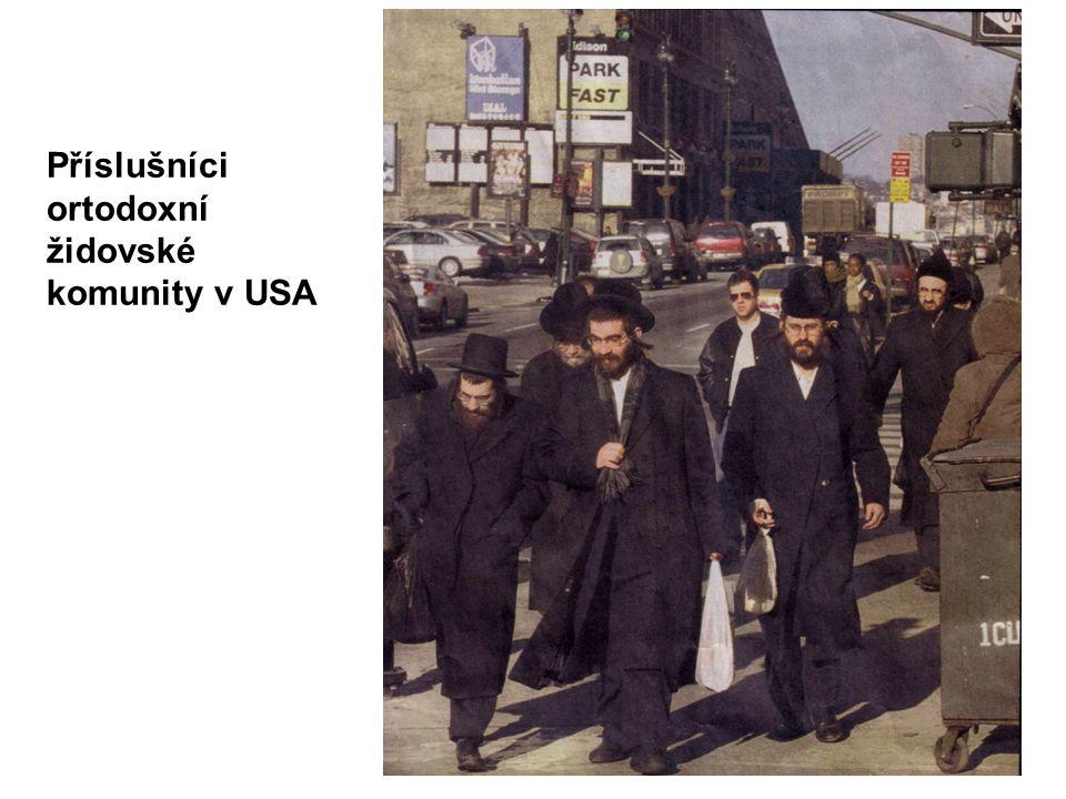 Příslušníci ortodoxní židovské komunity v USA