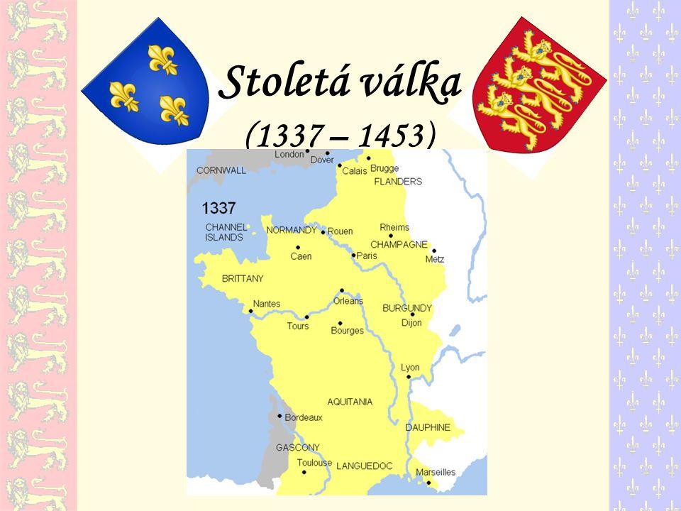 angličtí králové měli jako léno značnou část francouzského území, protože když r.1066 normanský vévoda Vilém Dobyvatel porazil anglického krále Harolda II.