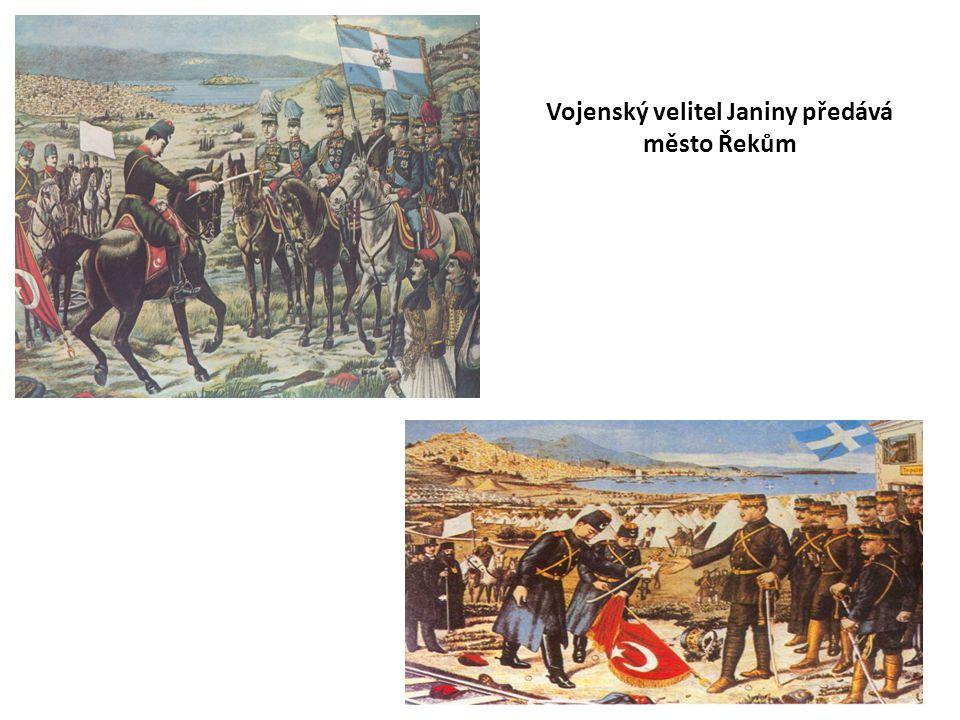 Vojenský velitel Janiny předává město Řekům