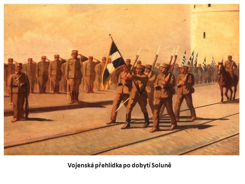 Vojenská přehlídka po dobytí Soluně
