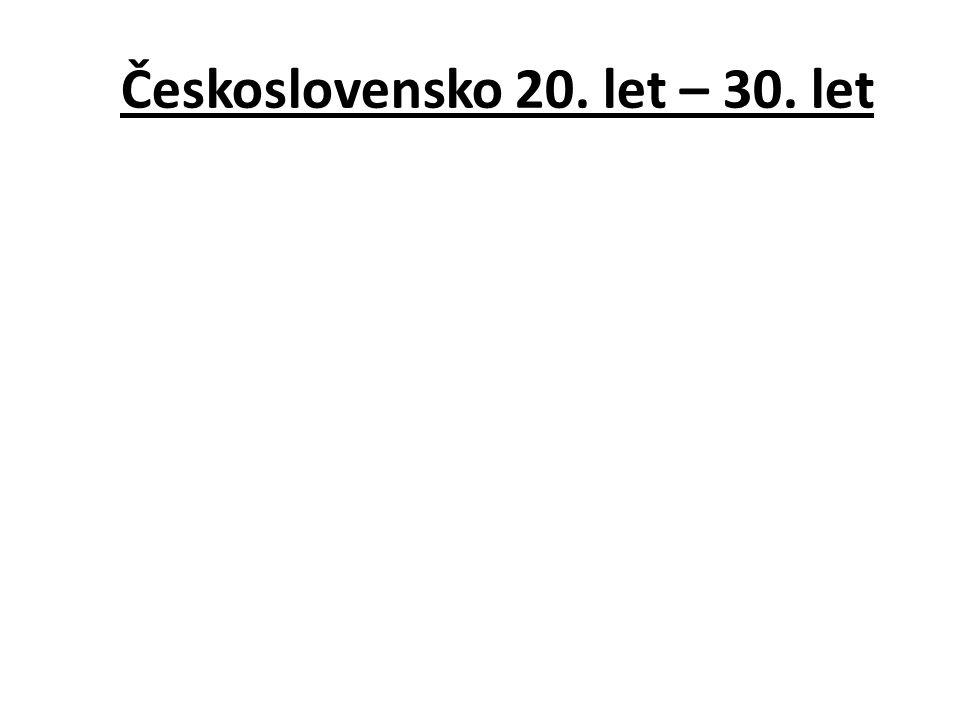 Československo 20. let – 30. let