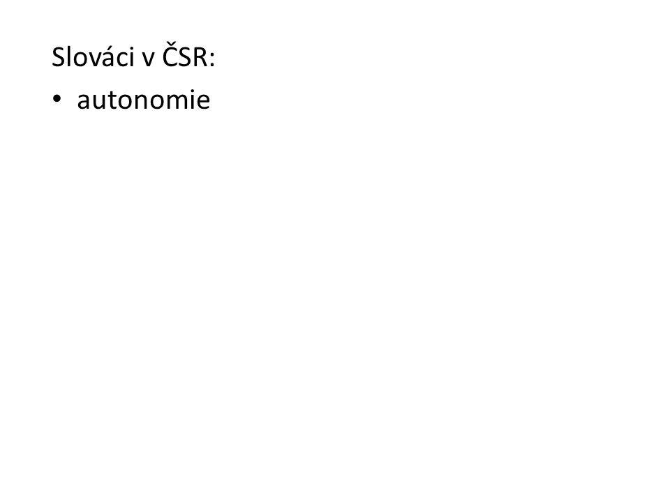 Slováci v ČSR: autonomie