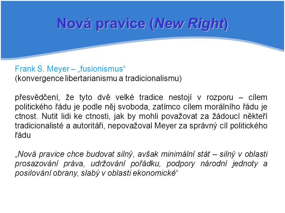 Nová pravice (New Right) Frank S.
