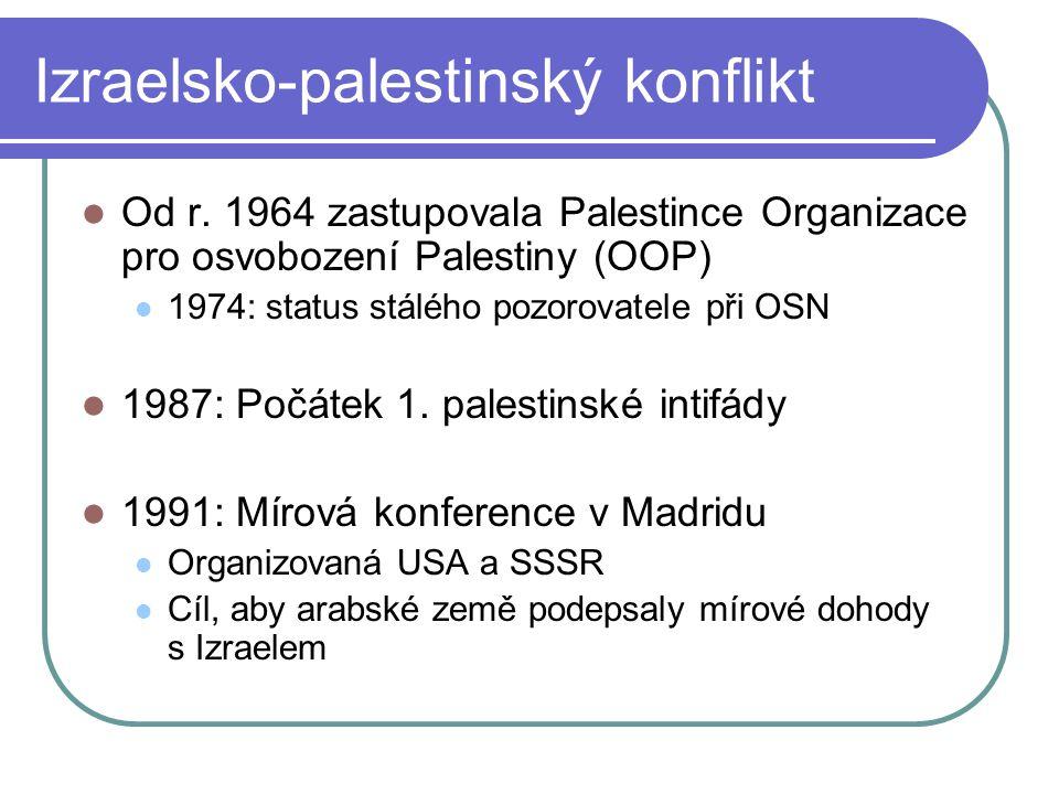 Izraelsko-palestinský konflikt Od r.