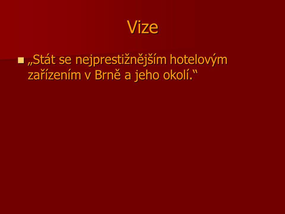 """Vize """"Stát se nejprestižnějším hotelovým zařízením v Brně a jeho okolí."""" """"Stát se nejprestižnějším hotelovým zařízením v Brně a jeho okolí."""""""