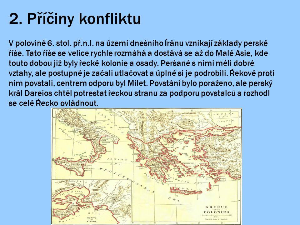 7.Shrnutí Odpovíš správně. 1. Co bylo příčinou bojů Řeků s Peršany.