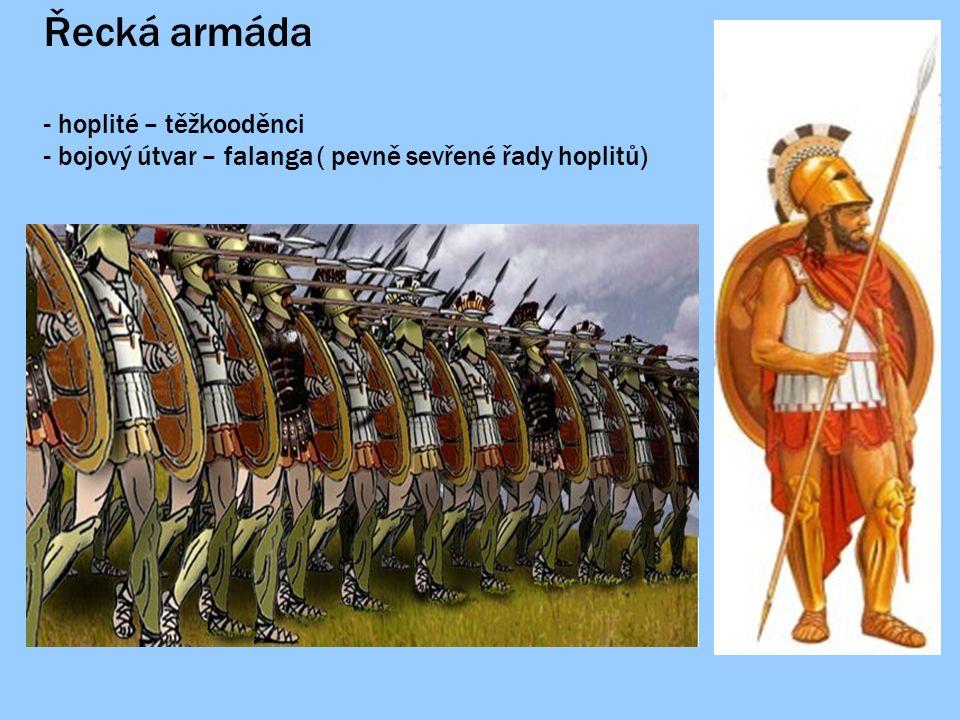 """Perská armáda - lučištníci - rekrutovaní z provincíí - postrádali organizovanost a disciplínu Hérodot: """" Řekové bojovali v pořádku a v šiku, zatímco barbaři ( Peršané) se nesmyslně vrhali vpřed."""
