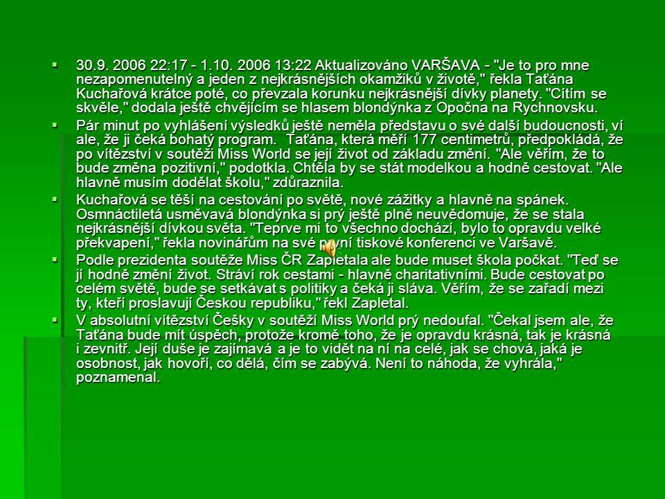  30.9. 2006 22:17 - 1.10. 2006 13:22 Aktualizováno VARŠAVA -
