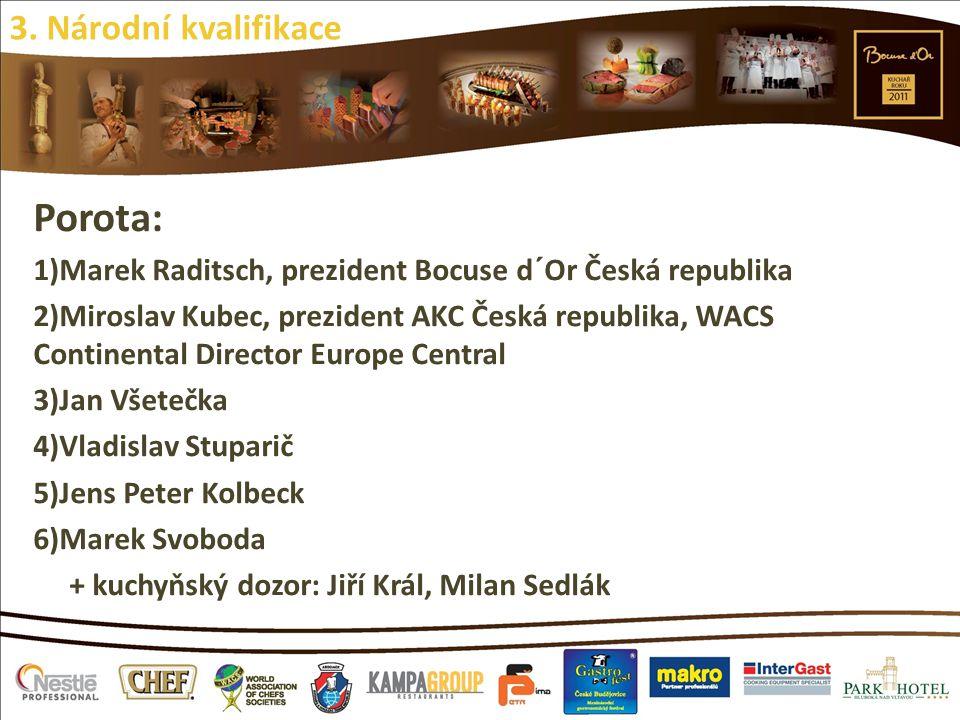 Porota: 1)Marek Raditsch, prezident Bocuse d´Or Česká republika 2)Miroslav Kubec, prezident AKC Česká republika, WACS Continental Director Europe Cent