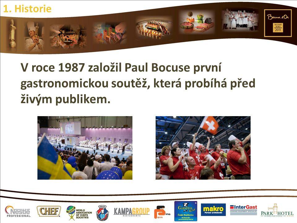 V roce 1987 založil Paul Bocuse první gastronomickou soutěž, která probíhá před živým publikem. 1. Historie