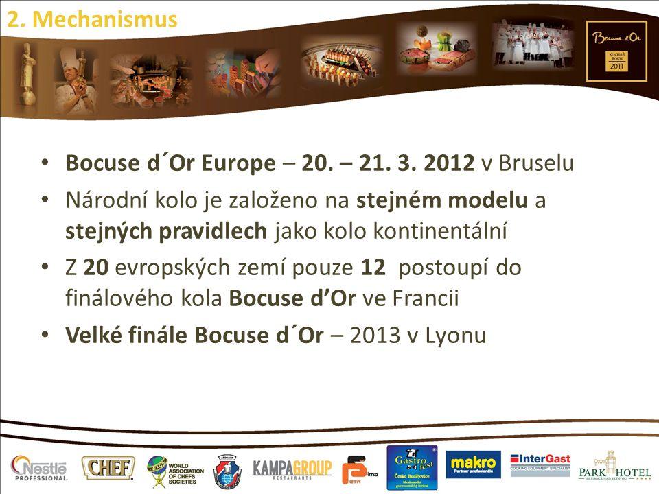 Bocuse d´Or Europe – 20. – 21. 3. 2012 v Bruselu Národní kolo je založeno na stejném modelu a stejných pravidlech jako kolo kontinentální Z 20 evropsk