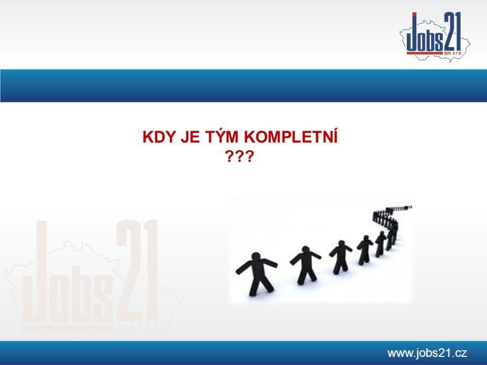 www.jobs21.cz KDY JE TÝM KOMPLETNÍ ???