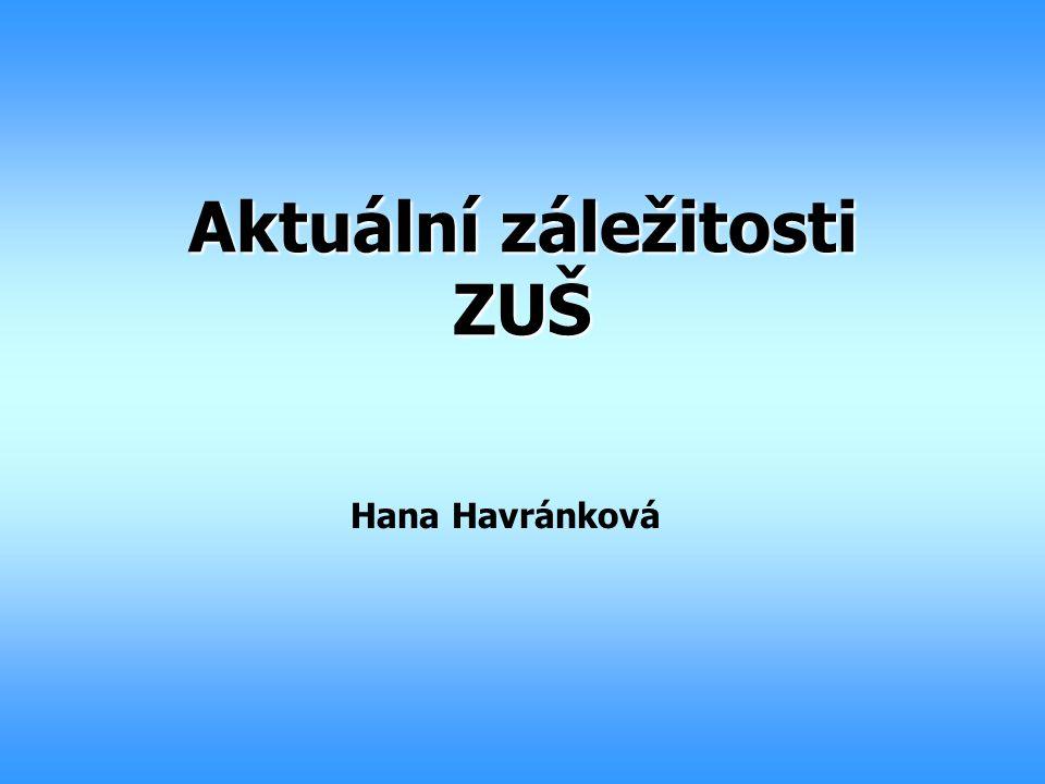 Aktuální záležitosti ZUŠ Hana Havránková