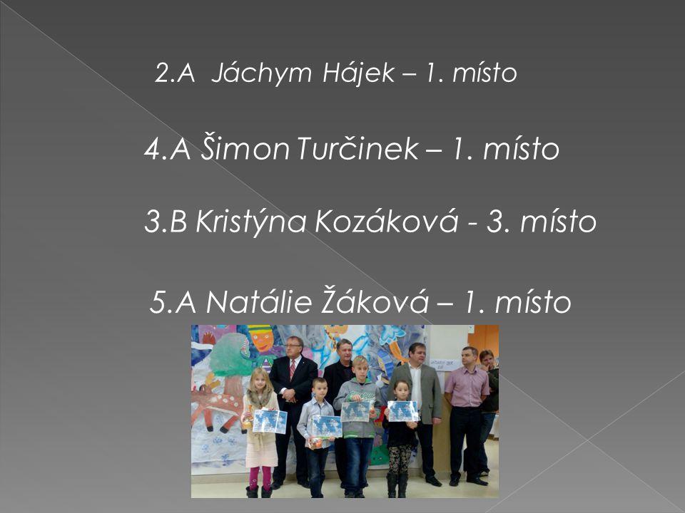 2.A Jáchym Hájek – 1. místo 4.A Šimon Turčinek – 1.