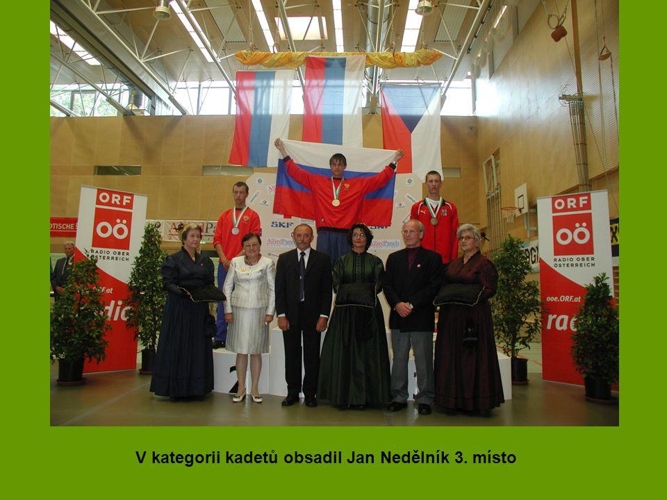 V kategorii kadetů obsadil Jan Nedělník 3. místo