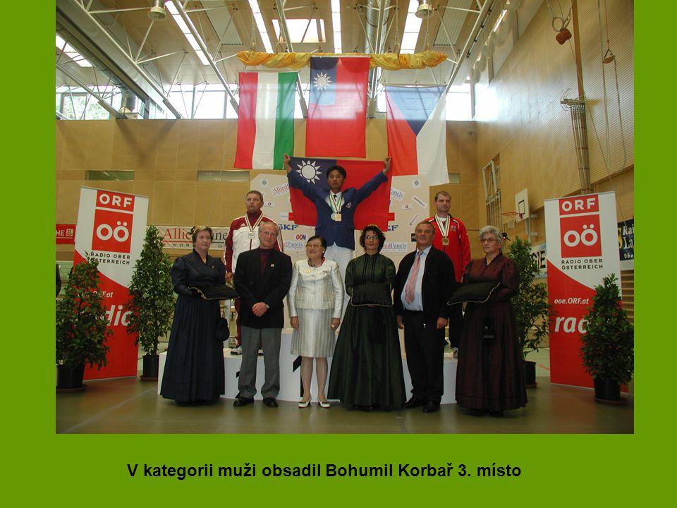 V kategorii muži obsadil Bohumil Korbař 3. místo