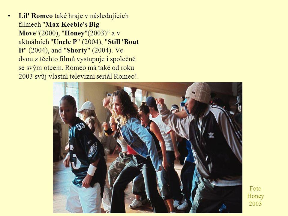 Foto Honey 2003 Lil Romeo také hraje v následujících filmech Max Keeble s Big Move (2000), Honey (2003) a v aktuálních Uncle P (2004), Still Bout It (2004), and Shorty (2004).