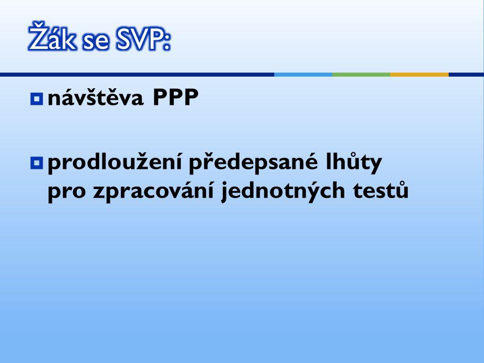  návštěva PPP  prodloužení předepsané lhůty pro zpracování jednotných testů
