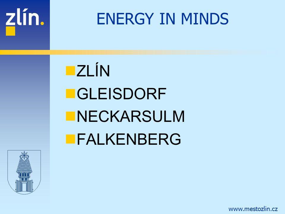 www.mestozlin.cz ENERGY IN MINDS ZLÍN GLEISDORF NECKARSULM FALKENBERG