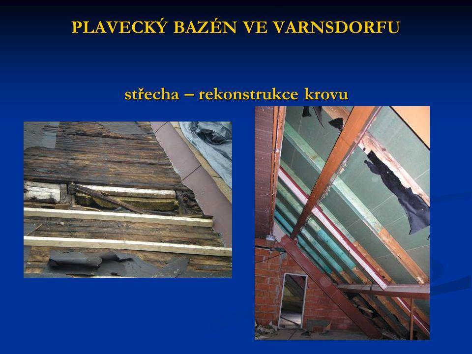 PLAVECKÝ BAZÉN VE VARNSDORFU střecha – rekonstrukce krovu