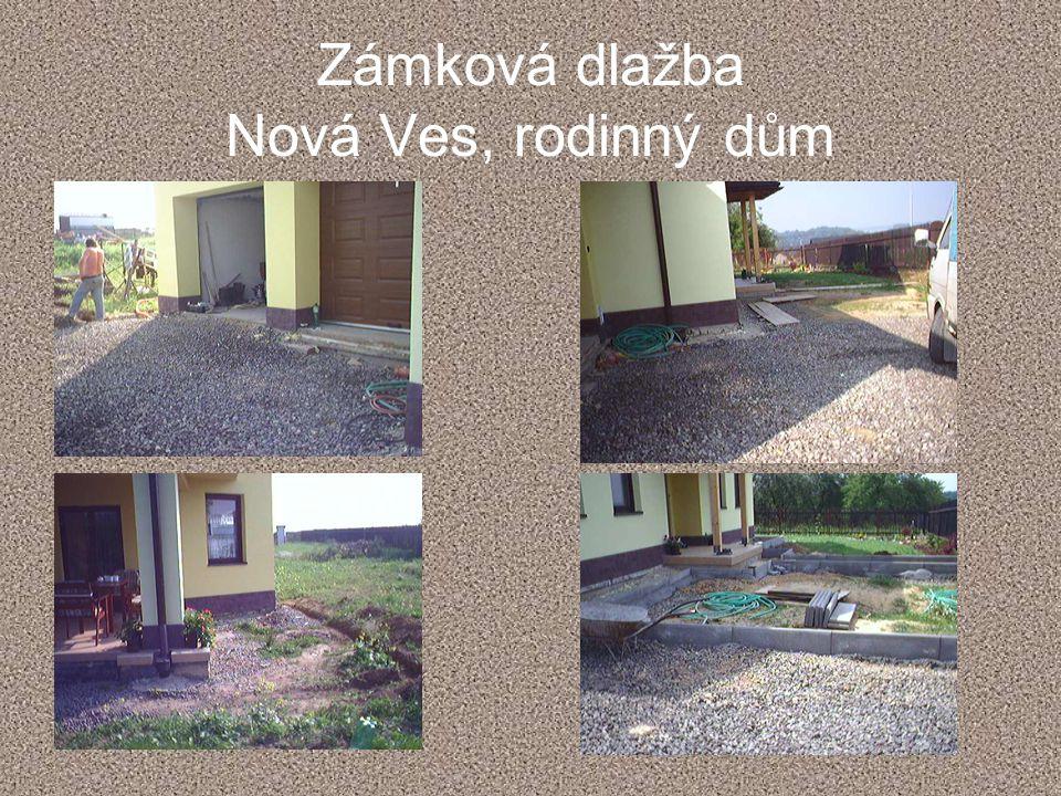 Zámková dlažba Nová Ves, rodinný dům
