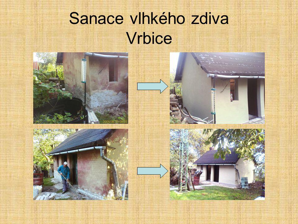 Sanace vlhkého zdiva Vrbice