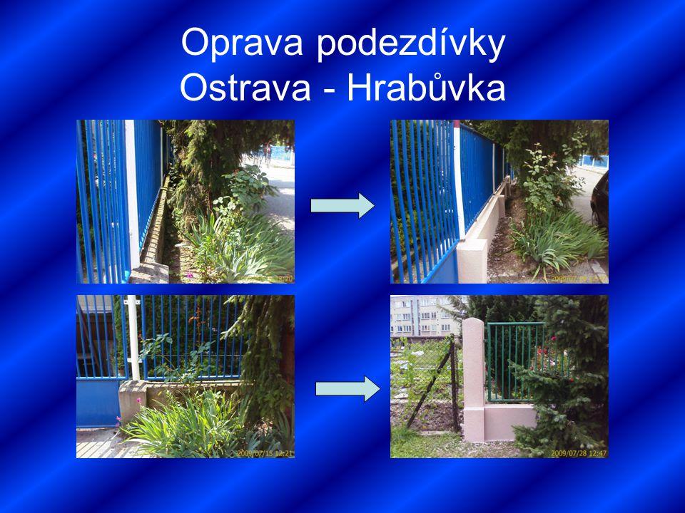 Oprava podezdívky Ostrava - Hrabůvka