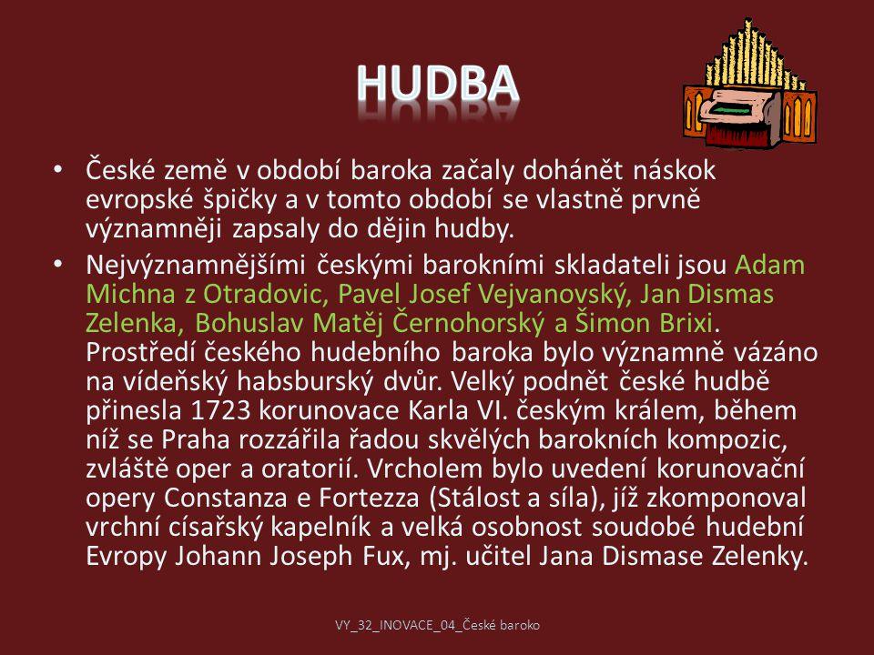 České země v období baroka začaly dohánět náskok evropské špičky a v tomto období se vlastně prvně významněji zapsaly do dějin hudby. Nejvýznamnějšími