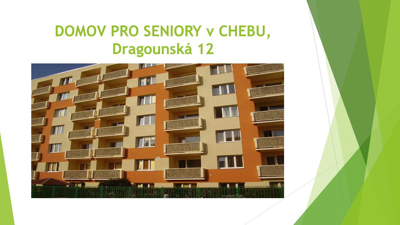 POLOHA DOMOVA Náš domov pro seniory se nachází poblíž centra města a zahradou sousedí s areálem Chebské nemocnice.