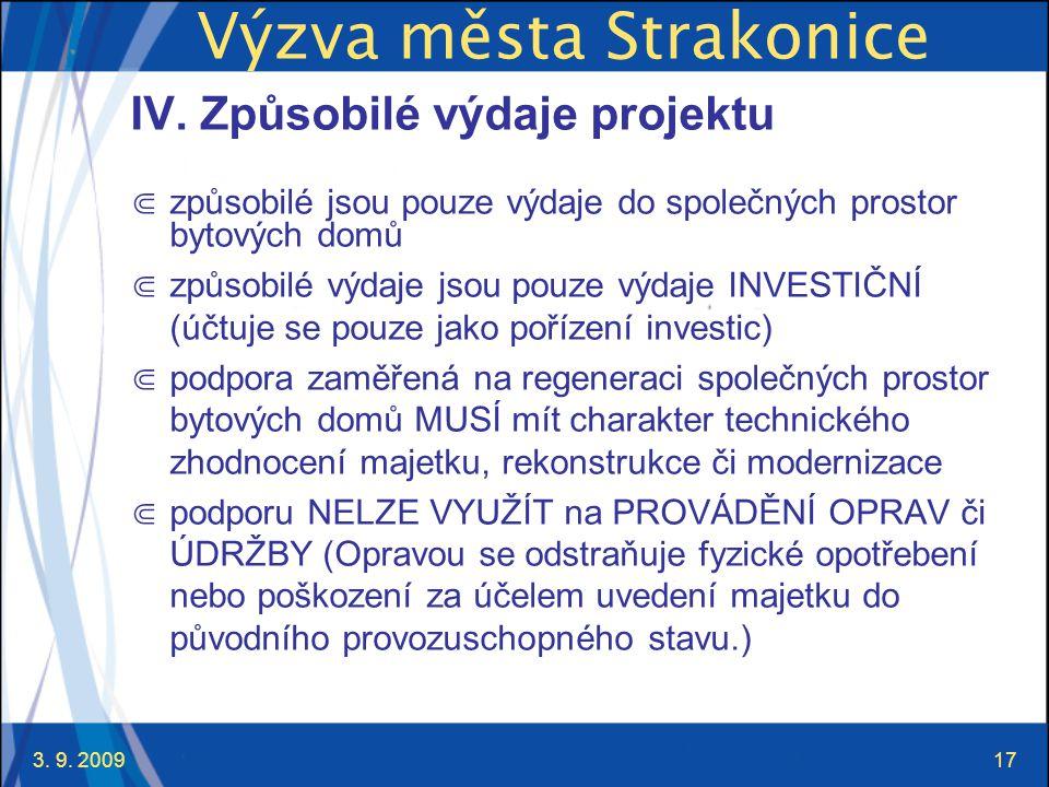 3. 9. 200917 Výzva města Strakonice IV.