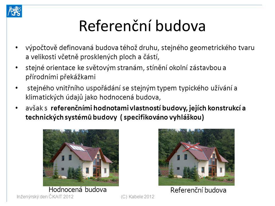 Referenční budova výpočtově definovaná budova téhož druhu, stejného geometrického tvaru a velikosti včetně prosklených ploch a částí, stejné orientace