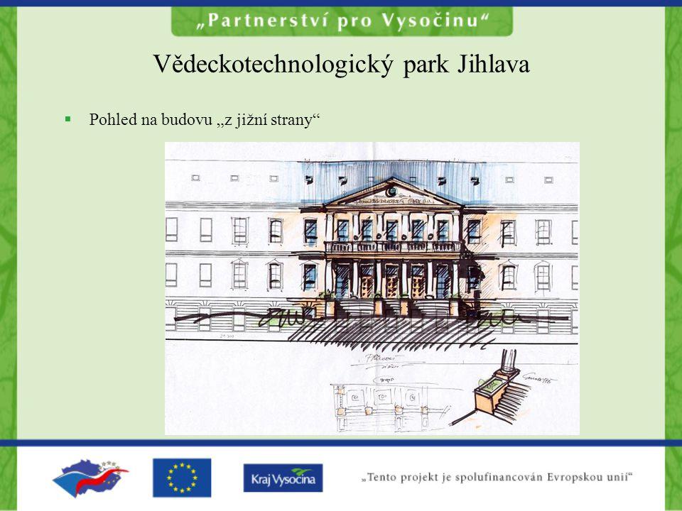 """Vědeckotechnologický park Jihlava  Pohled na budovu """"z jižní strany"""
