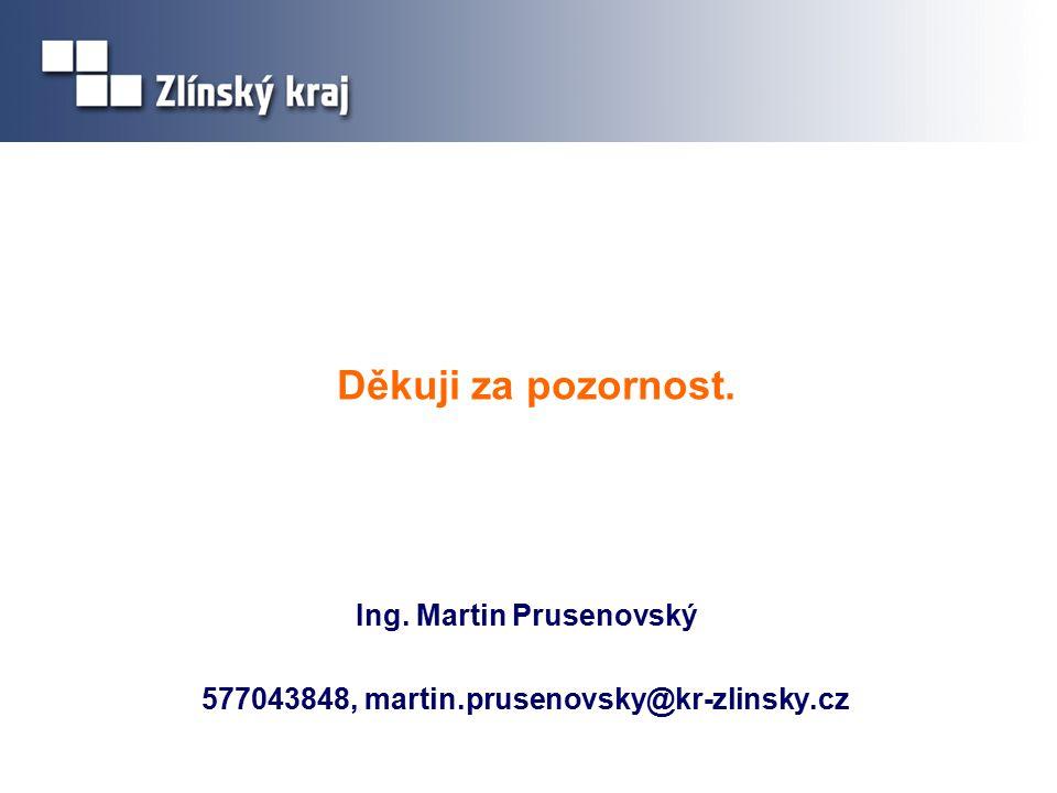 Děkuji za pozornost. Ing. Martin Prusenovský 577043848, martin.prusenovsky@kr-zlinsky.cz