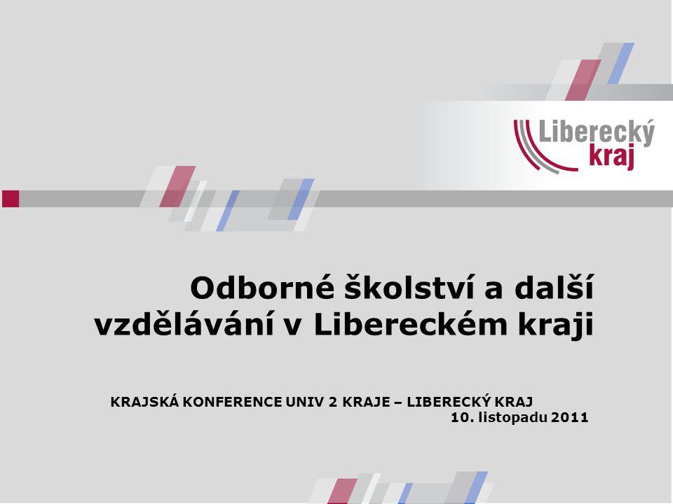 Odborné školství a další vzdělávání v Libereckém kraji KRAJSKÁ KONFERENCE UNIV 2 KRAJE – LIBERECKÝ KRAJ 10.