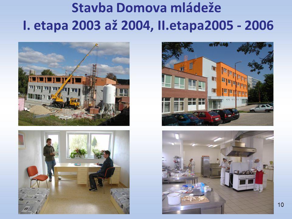 Stavba Domova mládeže I. etapa 2003 až 2004, II.etapa2005 - 2006 10