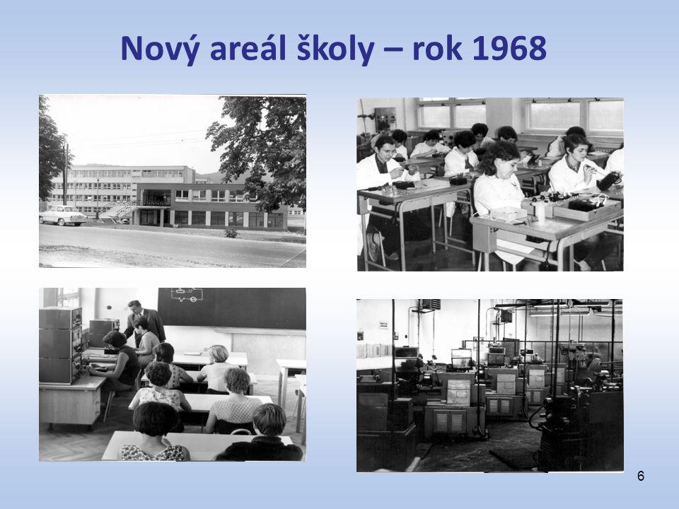 6 Nový areál školy – rok 1968