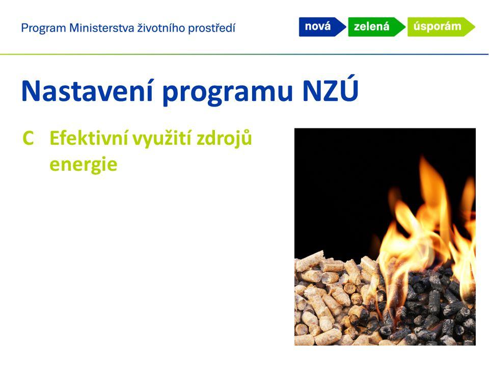 Nastavení programu NZÚ CEfektivní využití zdrojů energie