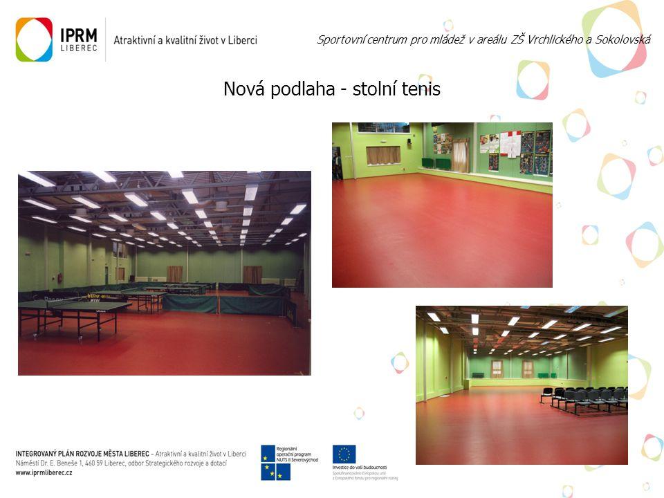 Nová podlaha - stolní tenis Sportovní centrum pro mládež v areálu ZŠ Vrchlického a Sokolovská