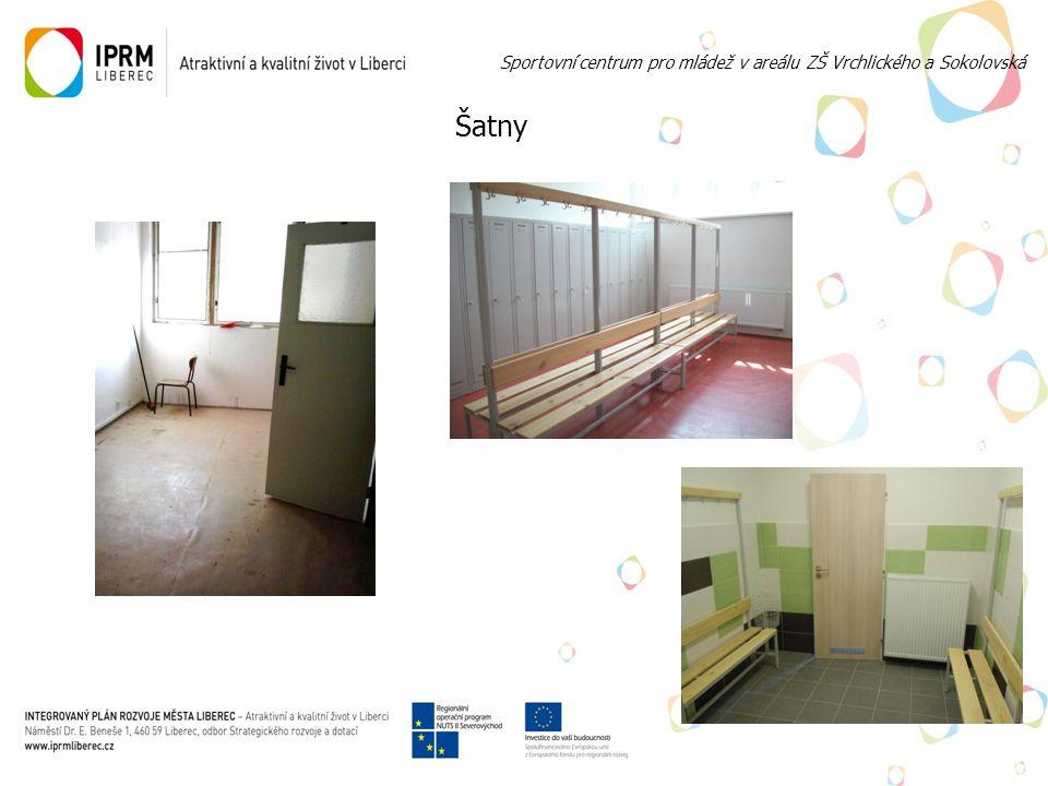 Šatny Sportovní centrum pro mládež v areálu ZŠ Vrchlického a Sokolovská