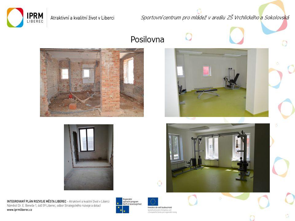 Posilovna Sportovní centrum pro mládež v areálu ZŠ Vrchlického a Sokolovská