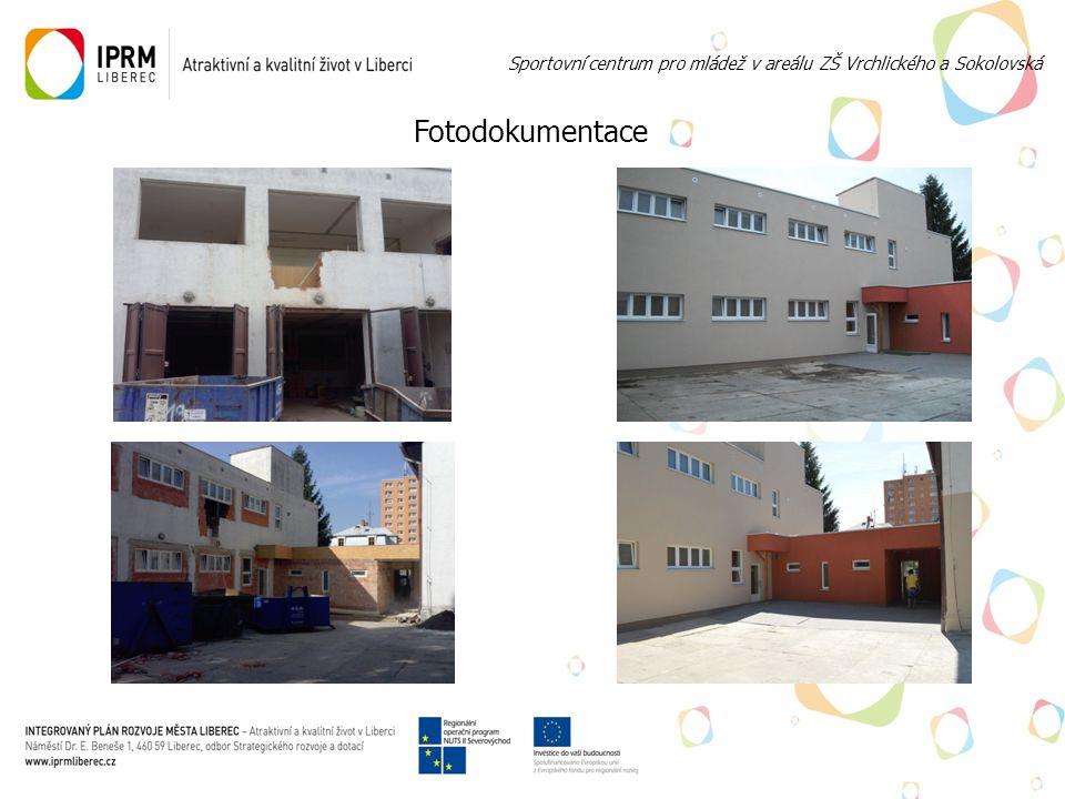 Recepce Sportovní centrum pro mládež v areálu ZŠ Vrchlického a Sokolovská