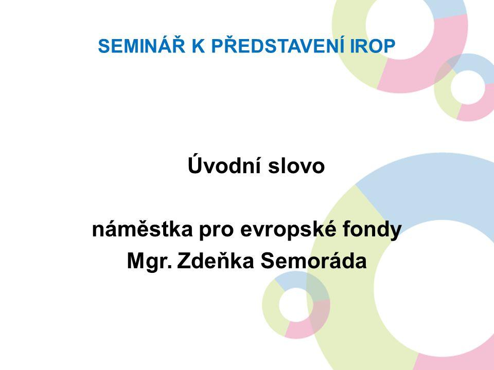 DĚKUJEME VÁM ZA POZORNOST prezentace a dokumenty v ní zmíněné jsou ke stažení na http://www.dotaceEU.cz/IROP v případě dotazů nás kontaktujte na irop@mmr.cz